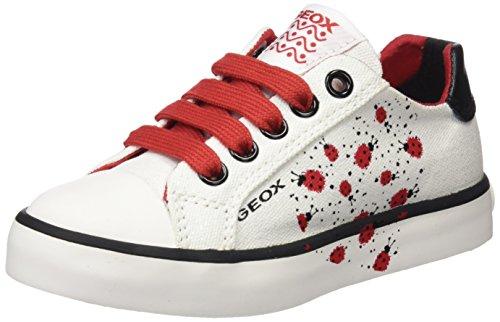 Geox JR CIAK Girl E, Zapatillas Niños, Blanco (White/Red), 31 EU