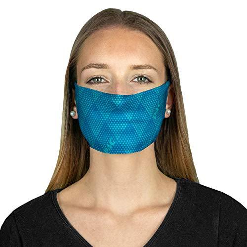 P.A.C. MN Mund-Nasen-Maske (2er-Pack) - Gesichtsmaske, Gesichtstuch, einfaches Atmen, Schlauchtuch, Halstuch, verschiedenste Designs, Unisex