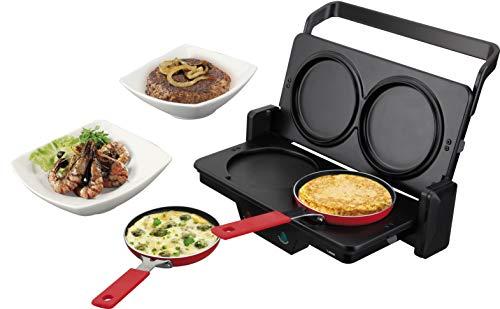 Jata set266 – Set Combiné Grill et accessoires, 1000 W, couleur noir
