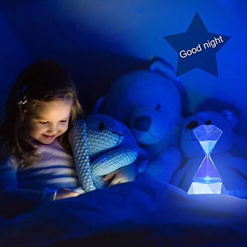『LEDベッドサイドライト15分砂時計』