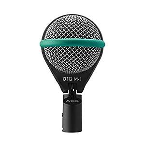 Akg d112.mkii microfono dinamico per grancassa Diagramma polare cardioide Puo ricevere oltre 160 ;db spl senza distorsioni Sensibilita 1.8 ;mv a Camera di risonanza dei bassi per un suono vibrante, montaggio flessibile integrato, bobina a compensazio...