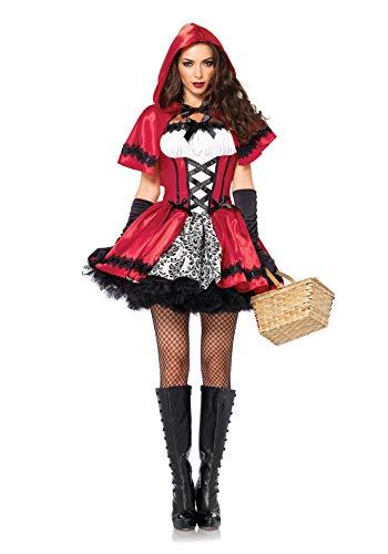 Disfraz de Juego de Roles para Mujer, Conjunto de Vestido Rojo Sexy con Sombrero Rojo, Fiesta de Carnaval de Halloween, Disfraz de Fiesta de Disfraces, XL