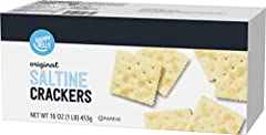 This product was previously a Solimo product. Now it's part of the Happy Belly brand, the product is exactly the same size and quality One 16 ounce box of Happy Belly Original Saltine Crackers A great crunchy topping for soups, stews or chowders If y...