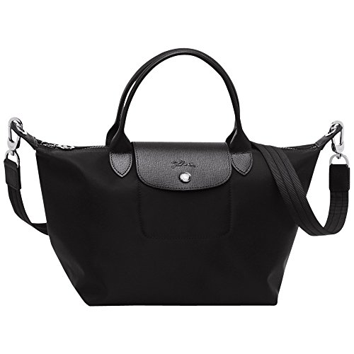Longchamp Le Pliage Neo - Bolso de mano (tamaño pequeño), color negro