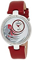 Akribos XXIV Women's AK602RD Lady Diamond Parrot Dial Swiss Quartz Leather Strap Watch