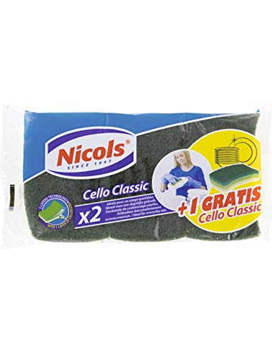 NICOLS EPONGE VEG. GRAT.VERTE X2+1GRTCELLO CL