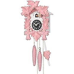 Sternreiter Pink! Black Forest Quartz Cuckoo Clock #1201QM