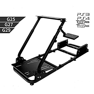 Marada Racing Wheel Stand Driving Simulator Cockpit Gaming Chair Height Adjustable Support for T3PA/TGT, G25, G37, G29/T300RS Wheel & Pedals Not Included