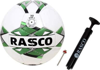 RASCO Brazil Street Machine Stitched Football Size 5 for Kids Under 14