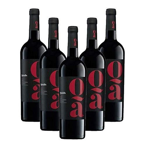 Vino tinto Quadis Crianza de 75 cl - D.O. Tierra de Cadiz - Bodegas Barbadillo (Pack de 5 botellas)