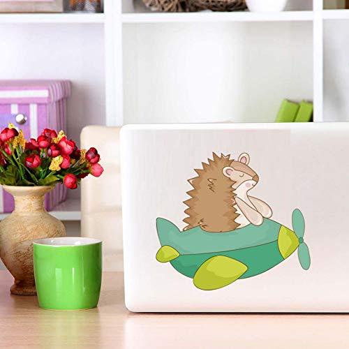 Mooie Egel by Plane Trojaanse Laptop Muurstickers Stickers voor Laptop Schakelaar Raam Auto Body Sticker Geweldige Home Decoratie