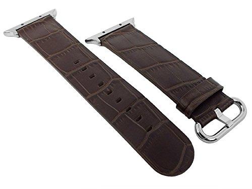 Morellato - Cinturino per orologio per Apple Watch, 42 mm, in pelle, marrone scuro