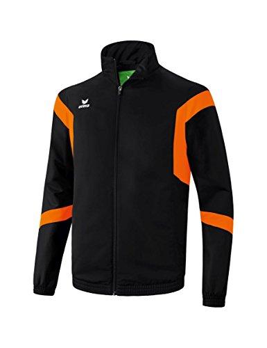 Erima 1016 Classic Team Veste Homme, Noir/Orange, FR : L (Taille Fabricant : L)