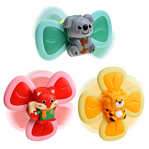 BAKAM Colorful High Chair Suction Cup Toy, Baby Bath Toy for Kids Boys and Girls, Bath Toys for Infant Toddler, Baby Educational Toy Set, 5