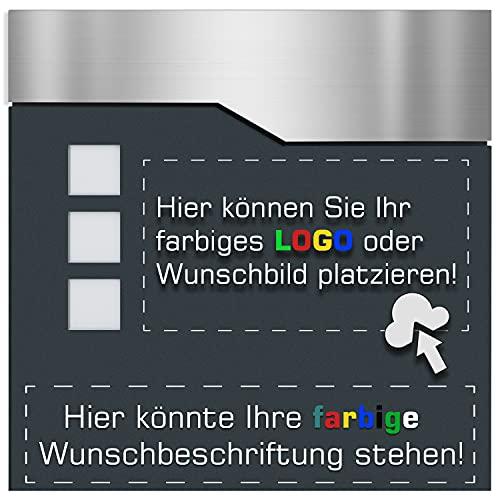 Briefkasten mit NAME - FOTO - LOGO - ADRESSE - BESCHRIFTUNG - anthrazit RAL 7016 pulverbeschichtet - ***TOP QUALITÄT***