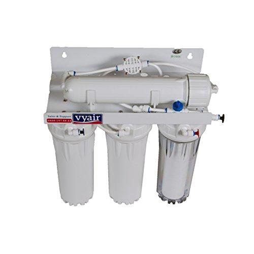 Vyair RO-50M 4-Stadio 50 galloni al giorno (189 litri) Sistema di filtraggio ad osmosi inversa dell'acqua con stadio di resina MB-115 DI per acquari marini e pulizia delle finestre