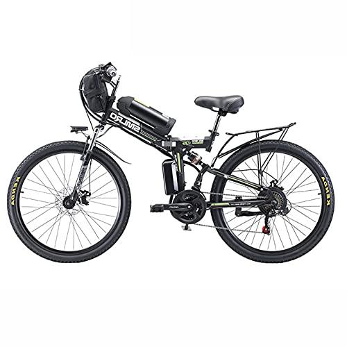 ZOSUO Adulto Bicicleta Híbrida Plegable 26 Rueda De Radios Bicicleta Electrica E-Bike...