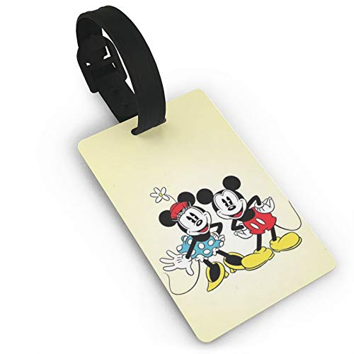 DNBCJJ Luggage Tags for Suitcases Mickey Mouse Yellow Luggage Tag,with Name ID Suitcase Women Men's Children's Travel Accessories