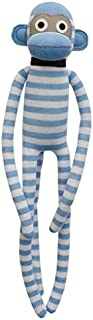 Jordan Lilac & White Stripes Monkey - Attractive Sock Monkey Soft Toy Nursery Décor Plush Figure Large 70cm