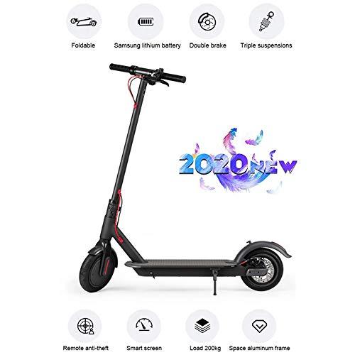 Elektrische scooter voor volwassenen, maximale bewegingssnelheid, 350 W, 30 km/u, met 8 inch luchtbanden met led-display, e-scooter, pendelaar-e-scooter