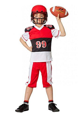 shoperama Kinder-Kostüm American Football für Jungen inklusive Helm Jugendliche Sport, Kindergröße:152 - 10 bis 12 Jahre