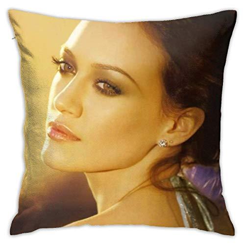 ingshihuainingxiancijies Hilary Duff Poliestere Throw Pillow Case Fodere per Cuscini Home Sofa Decorativo 18 x 18 Pollici / 45x45 cm