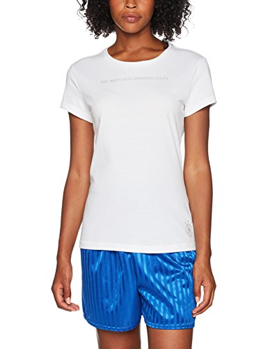 adidas DFB Frauen Graphic - Camiseta, Mujer, Blanco (Blanco/Negro), Large
