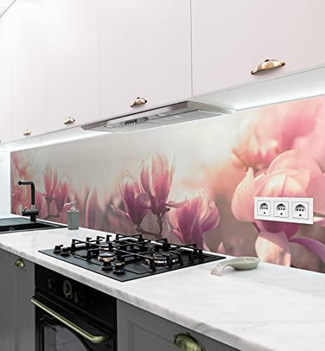 MyMaxxi | selbstklebende Küchenrückwand Folie ohne bohren | Aufkleber Motiv Blume 03 | 60cm hoch | adhesive kitchen wall design | Wandtattoo Wandbild Küche | Wand-Deko | Wandgestaltung