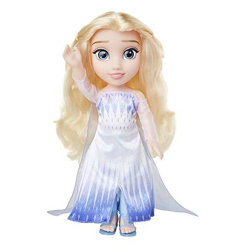 Disney Frozen 2, Elsa Mueca Grande (35 CM) en su Espectacular Vestido del pilogo, con Zapatos y Pendientes incluidos.