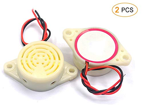 ZYHW Piezo Electronic Buzzer Alarm DC 3-24V 80dB Loud Continuous Sound Small Buzzer 30mA Universal for Cars Truck Motorcycle Alarm Device 2 Pcs