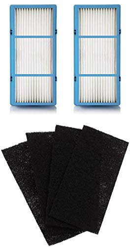 For Sale! Nispira 2 Replacement HEPA Filter + 4 Charcoal Booster Pre Filter Compatible with Holmes A...