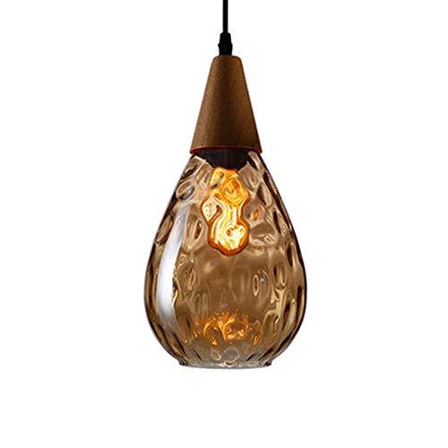Pendelleuchte Glas E27 Esstisch Hängeleuchte Deckenleuchte Lampenschirm Hängelampe Moderne rustikal leuchtmittel für Wohnzimmer Schlafzimmer Loft Restaurant Cafe Esszimmer Küche,Braunem