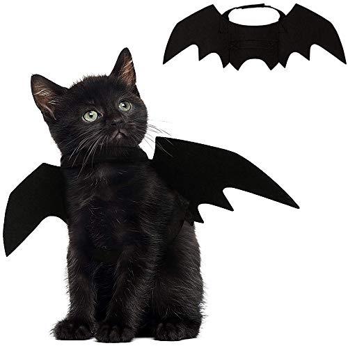 Alas de murciélago para mascotas de Leegoal, como disfraz de Halloween para mascota, para perros y gatos