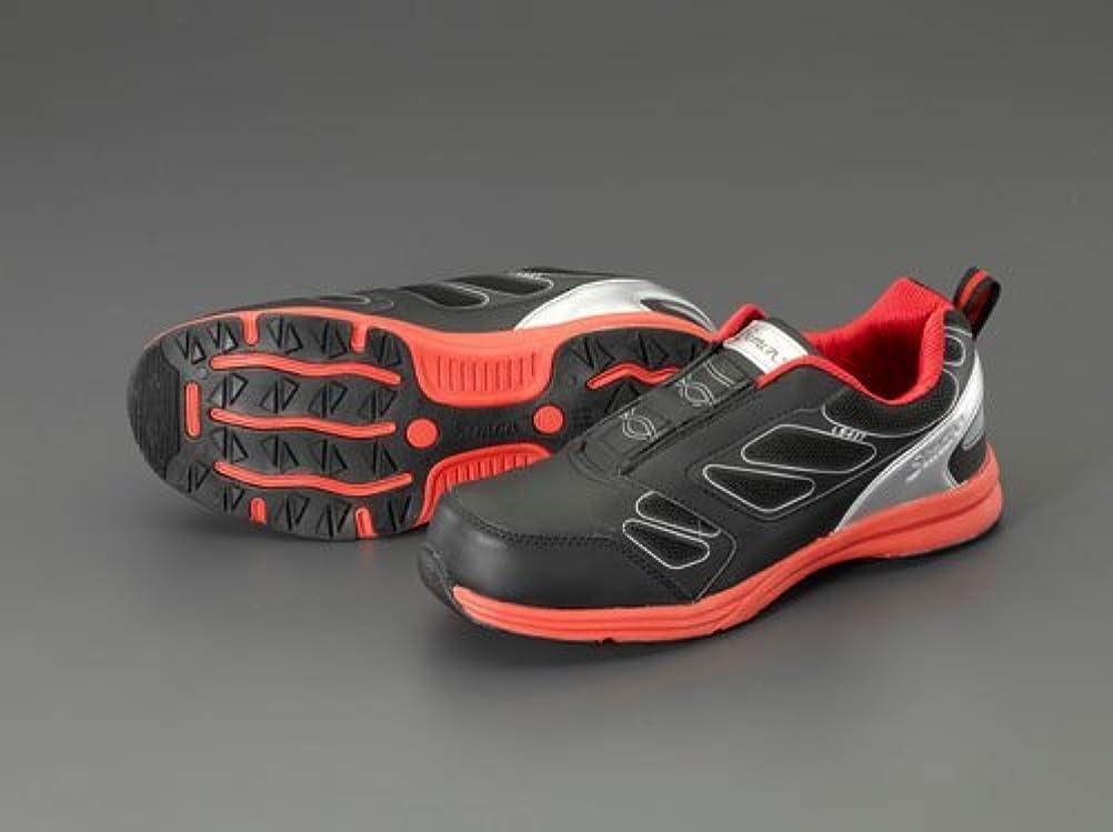 付き添い人鼓舞する穿孔するエスコ 26.5cmプロスニーカー(黒?赤) EA998VW-26.5