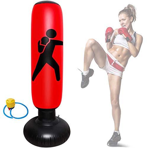 Boksuitrusting Kickbokszak, Fitness Target Stand Torenzak met voetluchtpomp voor kinderen Volwassenen