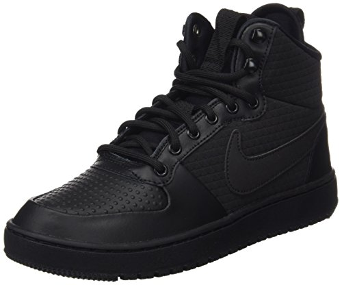 Nike Herren Court Borough Mid Winter Fitnessschuhe, Schwarz (Black/Black 002), 41 EU