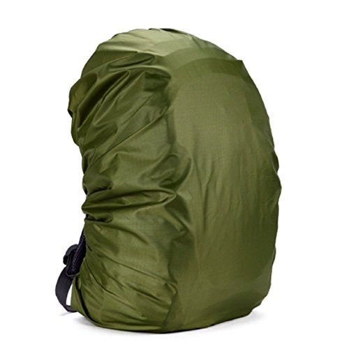 Silfrae Waterproof Backpack Rain Cover 30L-80L for Travel, Climbing, Hiking and Outdoor Activities (Army Green, 50L-60L)