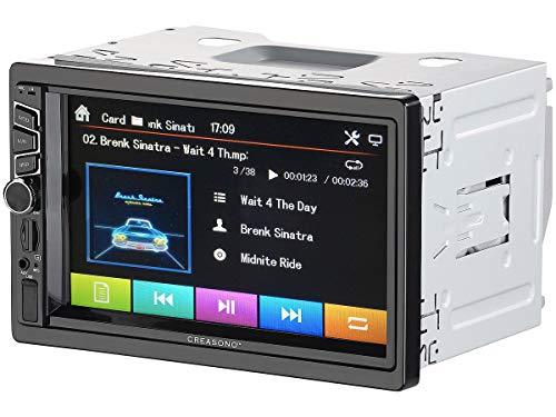 CREASONO Doppel DIN Radio: 2-DIN-DAB+/FM-Autoradio, Touchdisplay, Bluetooth, Freisprecher, 4x45 W (Autoradio 2DIN)
