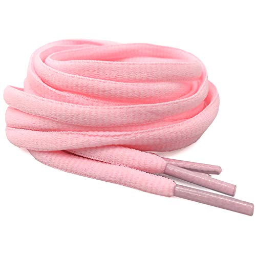 """DELELE 2Pair Oval Shoes laces 42 Colors Half Round 1/4""""Athletic ShoeLaces for Sport/Running Shoes Shoe Strings Pink -45.28"""""""
