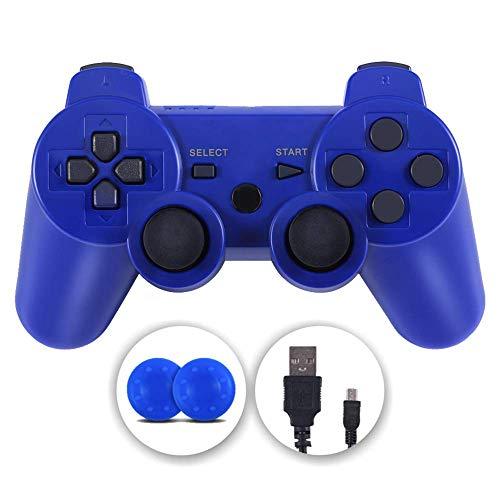 Shineled PS3 Controller, PS3 Joystick, ohne Kabel Controller für PS3 Controller, Doppel-Vibration Gamepad blau