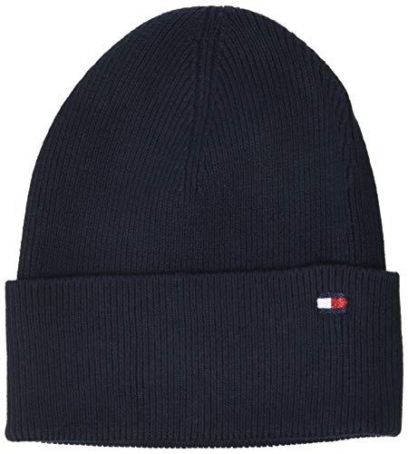 Tommy Hilfiger Damen Essential Knit Beanie Hut, Sky Captain, OS