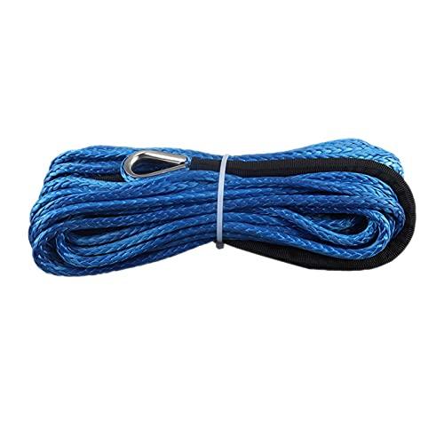 QIANGQIANG Very gondhh 7000 libbre argano Linea Cavo Corda Corda argano rimorchio Gancio Tappo di Gomma per ATV SUV UTV. Camion Accessori Fuoristrada (Color : Blue)