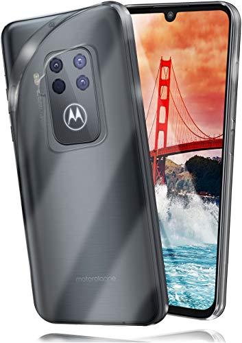 moex Aero Hülle kompatibel mit Motorola One Zoom - Hülle aus Silikon, komplett transparent, Klarsicht Handy Schutzhülle Ultra dünn, Handyhülle durchsichtig einfarbig, Klar