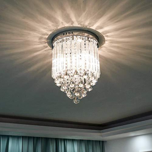 LIGHTESS Lampadario Cristallo Moderno Lampada da Soffitto per Soggiorno Camera da Letto