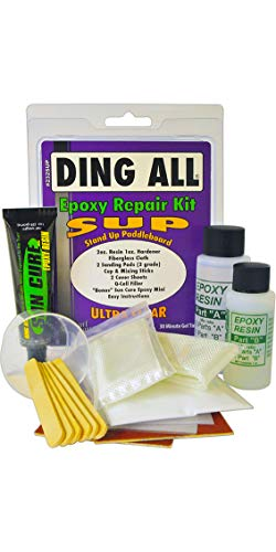Ding All SUP Stand Up Paddle Boarding Epoxy 2oz reparatieset # - 2oz. Hars & 1 oz. Verharder (3 oz. Totaal) - Cup & Mixing Sticks