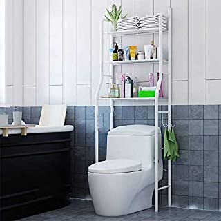 Dorsa Toilet Storage Rack,3 Tier Over Commode Shelving,No Drilling,Easy to Assemble,High Capacity,Very Sturdy Space-Saving...