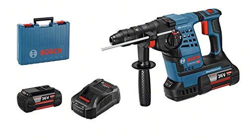 Bosch Professional Akku Bohrhammer GBH 36 VF-LI (mit SDS-Plus Bohrfutter, inkl. 2x 6,0 Ah Akkus + Ladegerät, in L-BOXX)