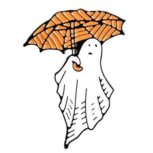 Halloween Cartoon Metall Emaille Brosche Kürbis Geist Rucksack Reversnadel Abzeichen