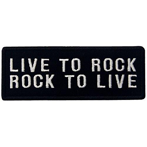 Live To Rock Rock Para Vivir Bordado De Hierro En Coser En El Parche