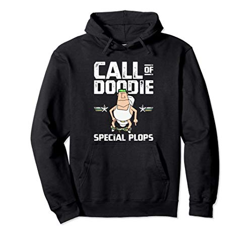 Call of Doodie Special Plops Funny Nerd Gamer Duty Player Sudadera con...